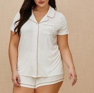 TORRID - 'Mrs.' Bridal Button Up Pajama Short Set